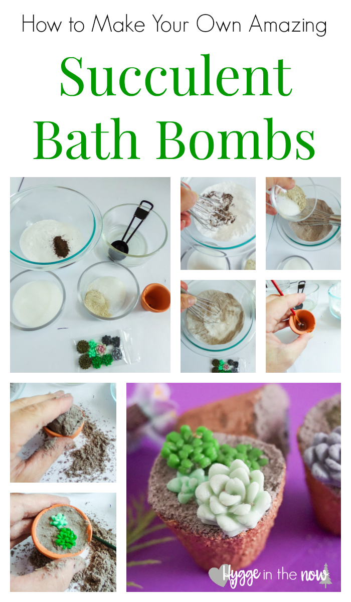learn how to make succulent bath bombs